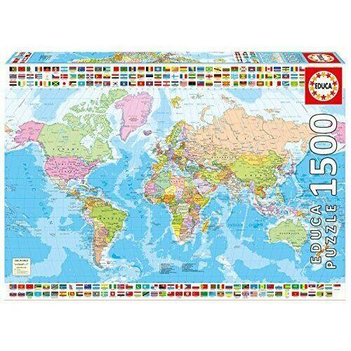 Educa Világtérkép 1500 db-os kirakó / puzzle