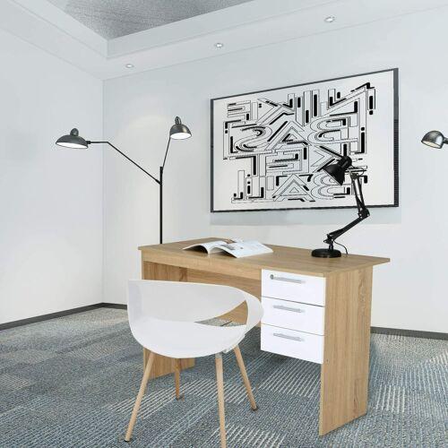 Woltu íróasztal, zárható fiókkal, 120 cm