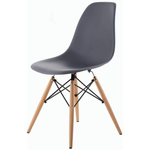 HNNHome Eiffel design szék szett, szürke, 4 db, B kategória