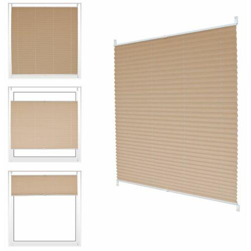 ECD Germany 80×150 cm feszített harmónika roló/pliszé függöny, fúrás nélkül, krém