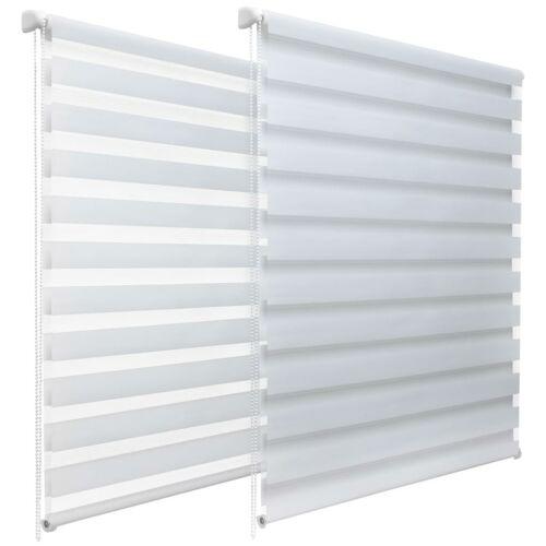 Sávos roló, dupla roló, zebra roló, fehér, 106×135 cm