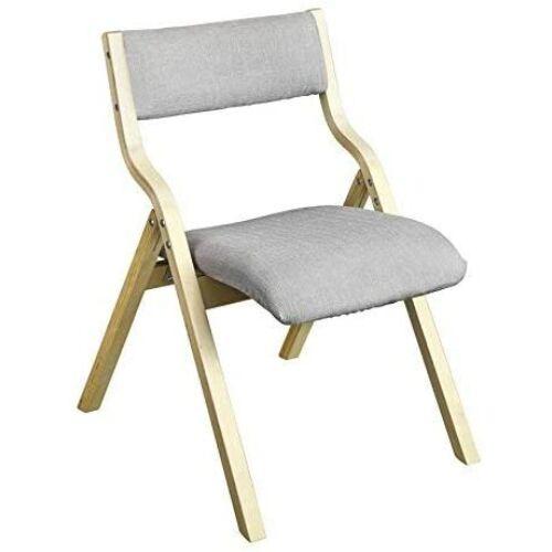 SoBuy® FST40-HG, fa párnázott összecsukható szék