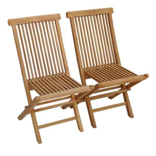 Beneffito teakfa összecsukható kerti szék, 2 db