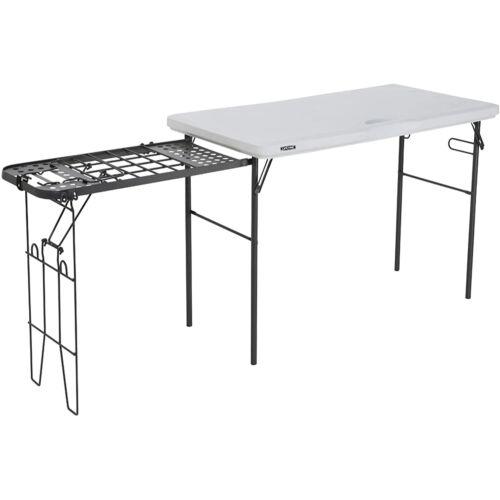Lifetime összecsukható asztal grill álvánnyal, fehér