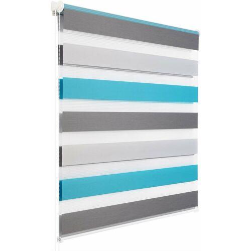 Woltu 80×150 cm sávos roló, dupla roló, zebra roló, 3 színű, fúrás nélkül