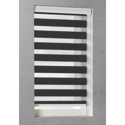 Pure Living 70×175 cm sávos roló, dupla roló, zebra roló, fekete, kazettás
