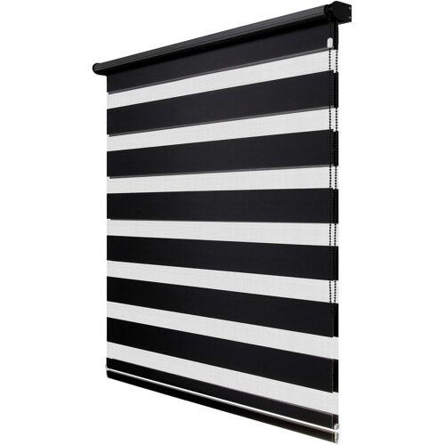 Fenster Decor 100×150 cm mini roló, sávos roló, dupla roló, zebra roló, fekete
