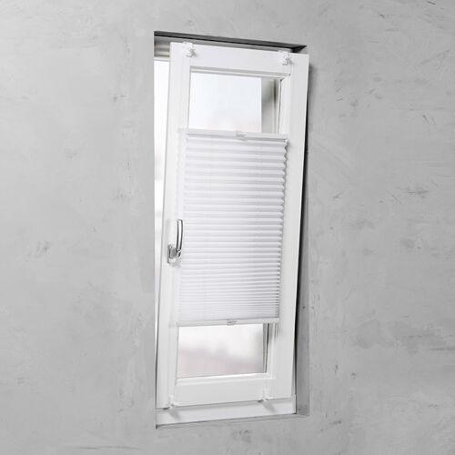 Basic 45×130 cm feszített harmónika roló/pliszé függöny, tetőablakra is, fúrás nélkül, fehér