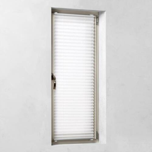 Kronborg 75×130 cm harmónika roló, pliszé függöny, fúrás nélkül, fehér