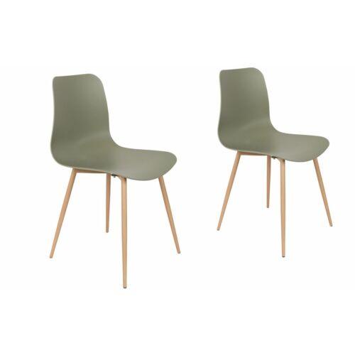Feliz Leon műanyag szék szett, fém lábakkal, B. kategória