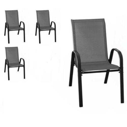 """Wohaga """"New York"""" kerti szék szett, 4 db, antracit/fekete"""