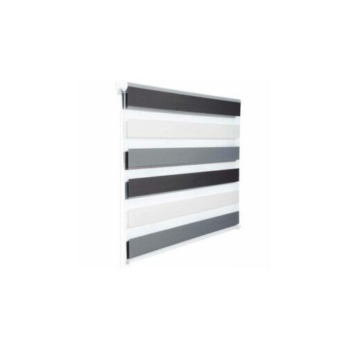 Grandekor 55×150 cm sávos roló, dupla róló, zebra roló, fúrás nélkül, 3 színű