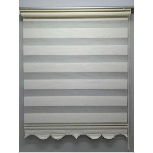 Rakott sávos roló, dupla roló, zebra roló, 95×200 cm, fehér