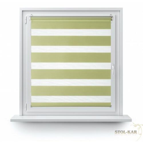 55×150 cm sávos roló, dupla roló, zebra roló, fúrás nélkül, zöld