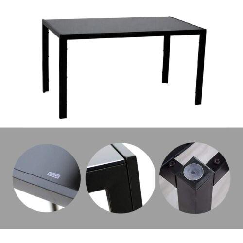 IDS Home fém étkezőasztal üveglappal, 130 x 70 x 75 cm