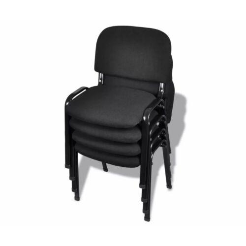 Irodai szövet szék szett, fekete, 4 db/szett, B. kategória