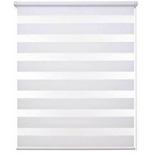 Grandekor sávos roló, dupla róló, zebra roló, fúrás nélkül, fehér 85×230 cm