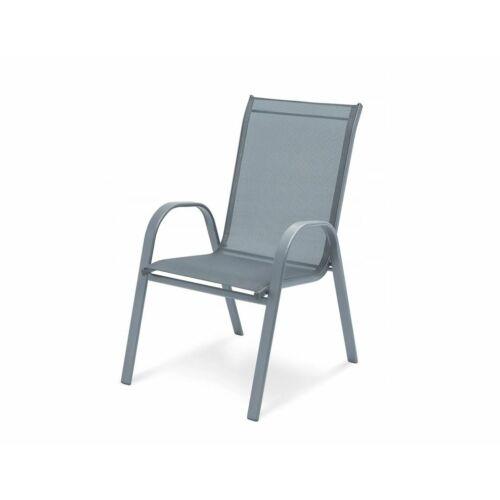 Max-Company acél kerti szék, szürke