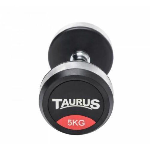 Taurus gumírozott egykezes súlyzó szett, 5 kg, 2 db