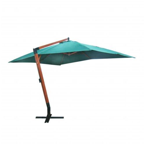 Lebegő napernyő Melia, 300 x 400 cm, zöld
