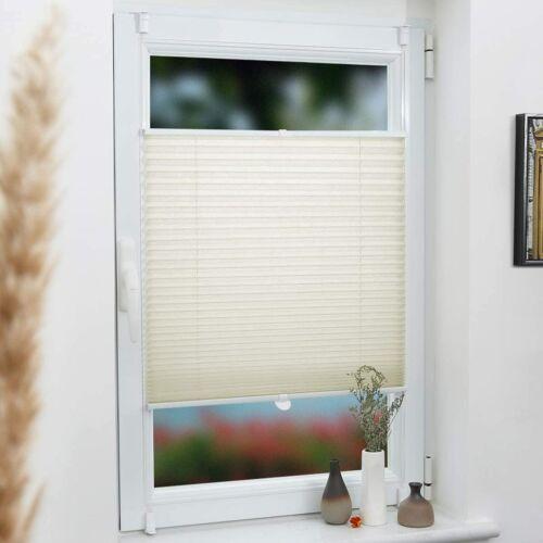 Grandekor 40×130 cm harmónika roló, pliszé függöny, fúrás nélkül, bézs szín