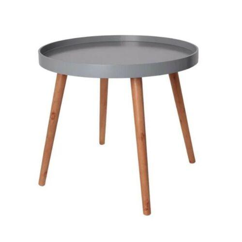 Home Deco kerek dohányzóasztal, 50×44 cm, szürke