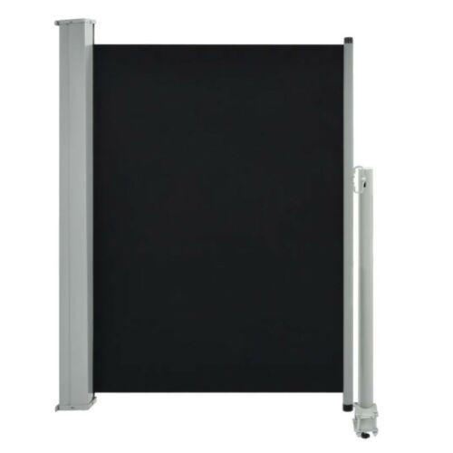 Kihúzható szélfogó, térelválasztó 100 x 300 cm, fekete