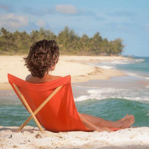 Simone Georges strandszék, koral, 140×70 cm