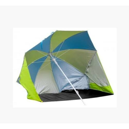 Time Eco 175 cm napernyő tengerpartra, strandra, TE-008 lime-kék