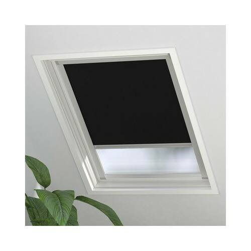 Soluna sötétítő roló, fényzáró roló tetőablakra, 97×99 cm, fekete, SK06