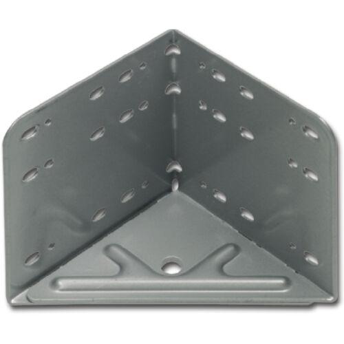 Ágy sarokvas szett, 4 db, 115 x 133 x 115 mm, ezüstszürke acél