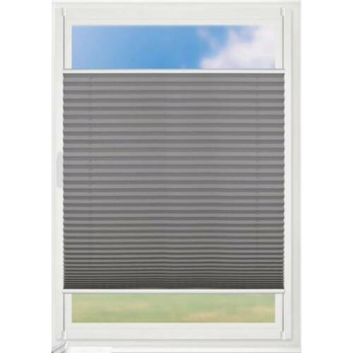 Grandekor 105x130 cm harmónika roló, pliszé függöny, fúrás nélkül, antracit szín