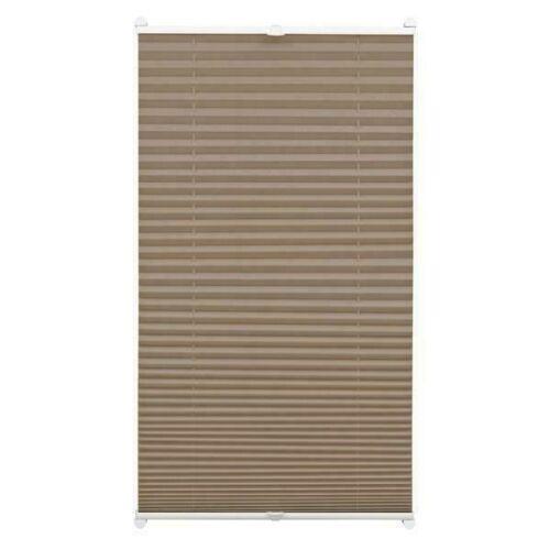 Gardinia 40x130 cm harmónika roló, pliszé függöny, fúrás nélkül, taupe