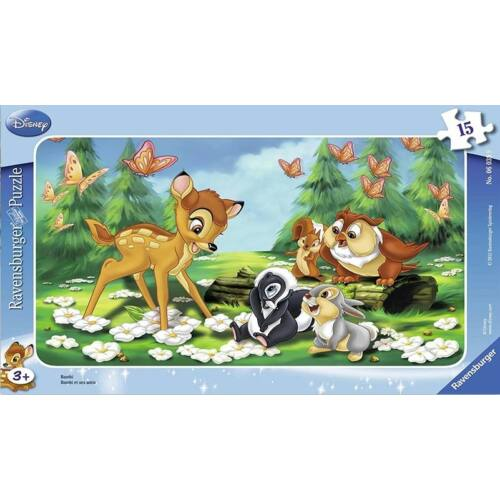 Ravensburger 15 db-os keretes puzzle - Bambi (06039)
