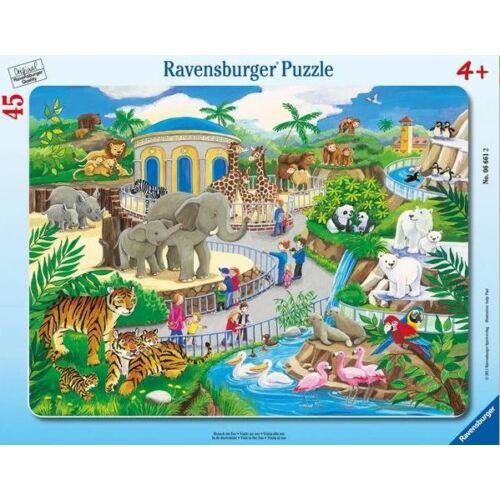 Ravensburger 45 db-os keretes puzzle - Látogatás az állatkertben (06661)
