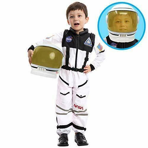 NASA gyerek űrhajós jelmez sisakkal, 8-10 év