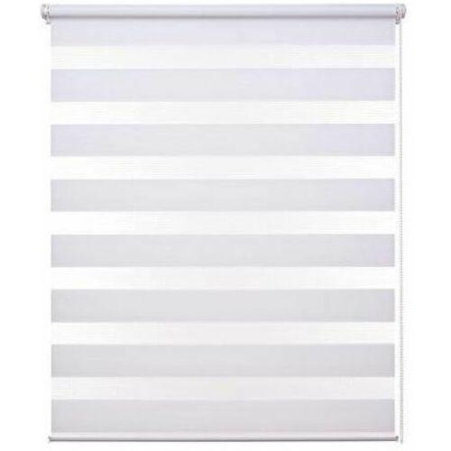 Grandekor sávos roló, dupla róló, zebra roló, fúrás nélkül, fehér 100×150 cm