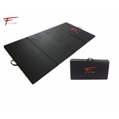 Fitem 240x120x4 cm PVC 4 részbe hajtható tornaszőnyeg, fitnesz matrac