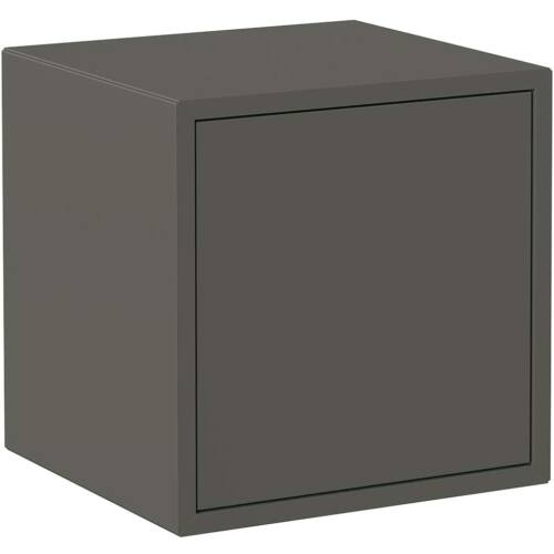 Iconico QBE fali kocka polc ajtóval, sötétszürke