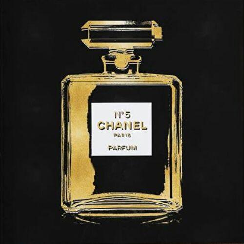 Chanel parfüm kép, üveg, 80×80 cm