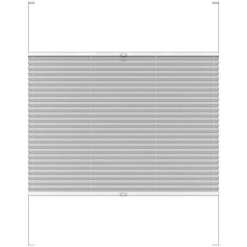 Harmónika roló, dupla pliszé, 103,7×151,6 cm, világos szürke