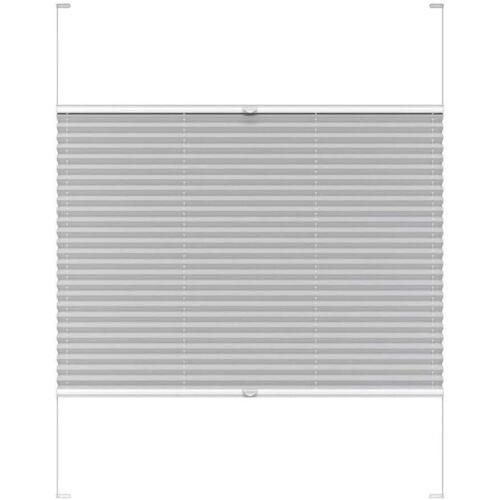 Harmónika roló, dupla pliszé, 58,7×186,3 cm, világos szürke