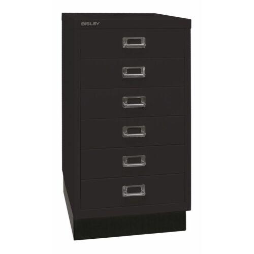 BISLEY – MultiDrawer™ acél fiókos tároló, fekete, B. kategória