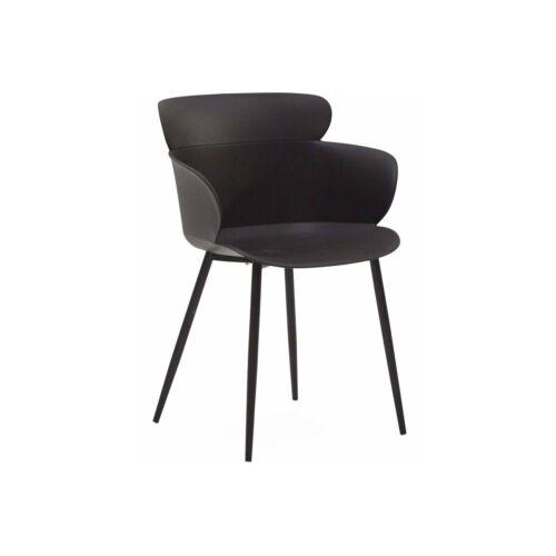 Selva kerti szék szett, 4 db, fekete, B. kategória