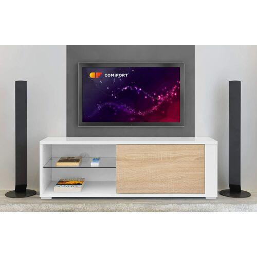 Comifort TV állvány, 100 cm, tölgy-fehér