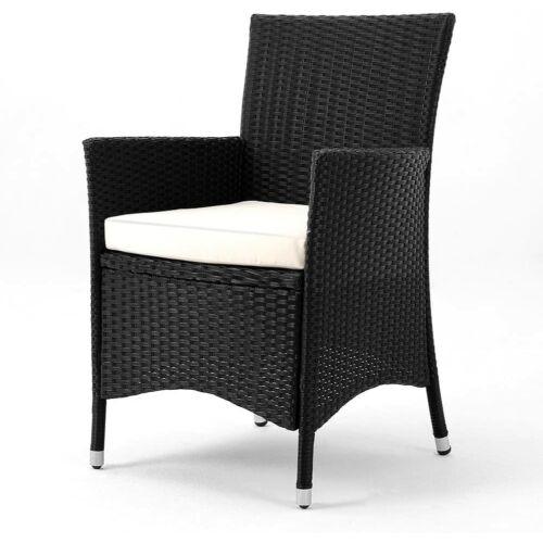 Deuba polyrattan kerti szék, párnával