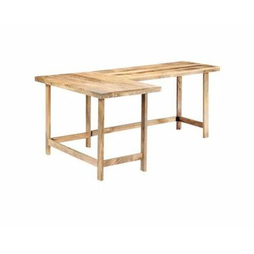 Tömör mangófa L alakú asztallap, 180×120 cm