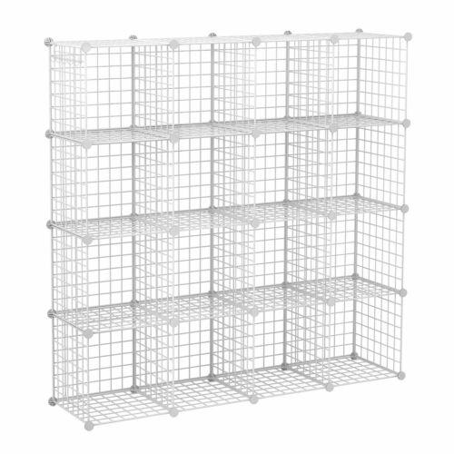 C & AHOME moduláris tároló, szervező 16 részes, fehér