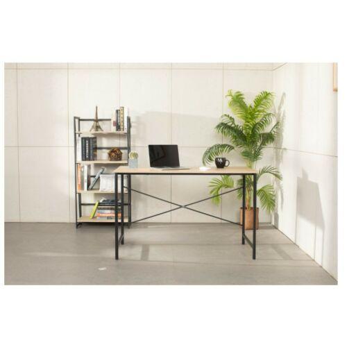 Számítógépes irodai asztal, MDF-fém, 120 * 60 * 75,5 cm