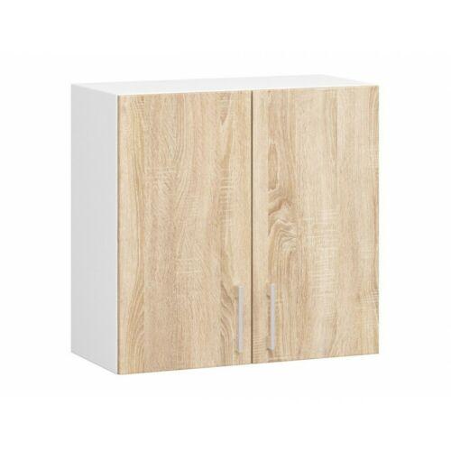Fali szekrény 2 ajtós, sonoma-fehér (W60 D2 LIMA)